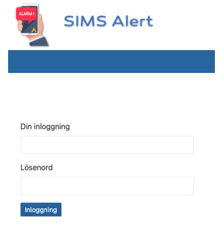 Extra anläggning (huvudcentral) till SIMS-alert